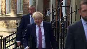 Boris Johnson arrives at campaign headquarters in London [Video]