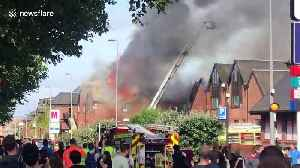 Sirens ring out as flames seen coming from shopping centre in Walthamstow [Video]