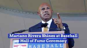 News video: Mariano Rivera Closes The Hall of Fame Ceremony