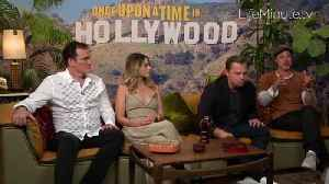 News video: Leonardo DiCaprio, Brad Pitt, Margot Robbie and Quentin Tarantino Talk Making of Once Upon a Time in Hollywood
