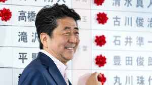 Japanese Prime Minister Shinzo Abe talks about his ruling coalition's win [Video]