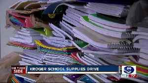 Kroger school supplies drive [Video]