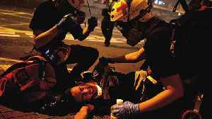 News video: Chaos in Hong Kong as police fire tear gas, rubber bullets