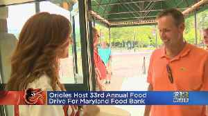 Orioles Host 33rd Annual Food Drive For Maryland Food Bank [Video]