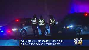Driver Killed While Checking On Disabled Vehicle Outside On Bush Turnpike [Video]