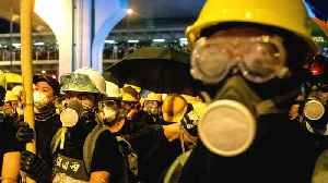 Hong Kong protesters come under attack at metro railway station [Video]