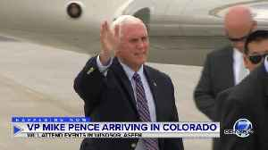 Vice President Mike Pence arrives in Colorado for fundraisers for Gardner, Trump [Video]