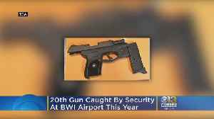 Georgia Man Caught By TSA With Handgun In BWI; 20th Person Caught At BWI This Year [Video]