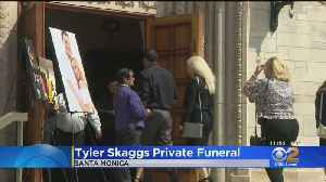 Private Funeral Underway For Tyler Skaggs [Video]