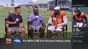 Denver Broncos linebacker Von Miller: I'm 'half-way there' to reaching my career sack goal [Video]