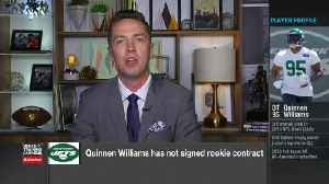 NFL Network's Tom Pelissero explains source of New York Jets rookie defensive tackle Quinnen Williams' contract stalemate [Video]