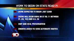 SR 71 Road Works Starts Monday [Video]
