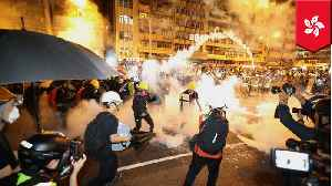 News video: Police use tear gas as Hong Kong extradition protests turn violent