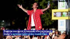Justin Bieber Convinces Popsicle to Bring Back Double Pops [Video]