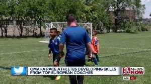 PACE athletes learning soccer skills from professional European coaches [Video]