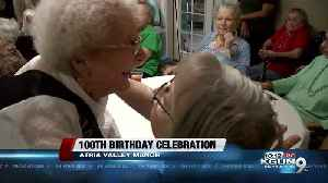 Celebrating 100 years with a local woman [Video]
