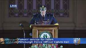 Pittsburgh's Police Chief Speaks At Officer Calvin Hall's Funeral [Video]
