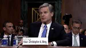 News video: Director Christopher Wray Says FBI Made About 100 Domestic Arrests This Year
