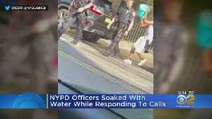 NYPD Officers Doused With Water While Responding To Calls [Video]