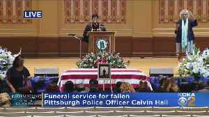 Blessing At Officer Calvin Hall's Memorial [Video]