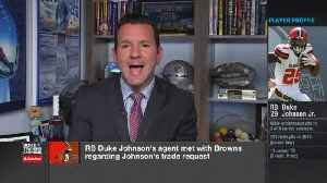 NFL Network Insider Ian Rapoport: Drew Rosenhaus met with Cleveland Browns regarding running back Duke Johnson's trade request [Video]