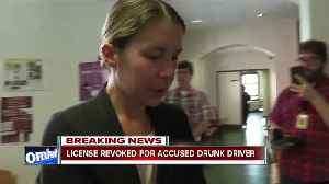 Kuntz's license suspended following DWI charge [Video]
