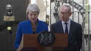 Theresa May gives her final speech as Prime Minister. [Video]