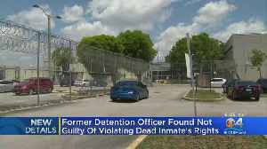 Florida Detention Officer Acquitted In Death Of Teenage Inmate [Video]