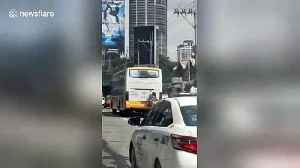 Philippines man dubbed 'Spider-Man' catches free ride on bus [Video]