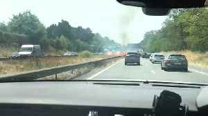 Highway Median in France Catches Fire Amid Record Heat [Video]