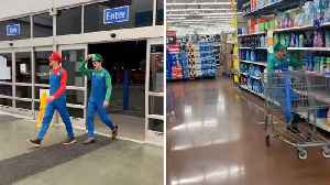 Supermarket Smash Bros Cause Comedic Chaos By Turning Local Walmart Into A Mario Kart Racetrack [Video]