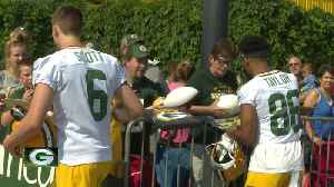 Excited fans gather as Packers kick off training camp [Video]