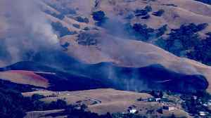 Raw Video: Grass Fire Burning In East San Jose Foothills [Video]