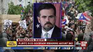 News video: Puerto Rico's governor resigning in face of massive protests