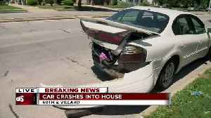 SUV slams into back of car in front of police [Video]