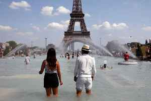 News video: Paris Records Its Hottest Day Ever