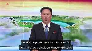 NKorea TV broadcast says missile test is warning to South [Video]