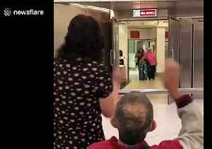 Emotional reunion at UK airport between girl and her chronically ill father [Video]