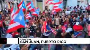 Celebrations in Puerto Rico after governor's resignation [Video]