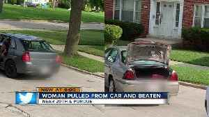 Woman pulled from car and beaten near 20th and Purdue [Video]
