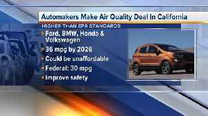 News video: Automakers make air quality deal in California
