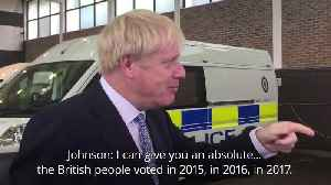 Prime Minister Boris Johnson rules out election before October 31 [Video]
