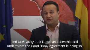 Taoiseach: No-deal Brexit could lead to support for united Ireland [Video]