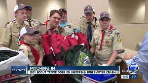 Boy Scout troop that lost gear in crash gets a shopping spree, thanks to Denver7 viewers [Video]
