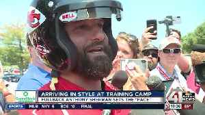 Chiefs' Anthony Sherman raises bar with NASCAR-style camp arrival [Video]