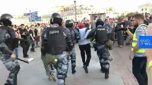 Watch: More than 1,000 arrested at Moscow protest [Video]