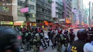 Hong Kong police move to forcefully clear protesters, using tear gas [Video]