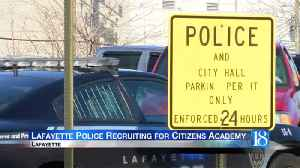 Lafayette police recruiting for citizens academy [Video]