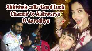 Abhishek's 'Good Luck Charms'Aishwarya, Aaradhya cheers for Kabaddi Team [Video]