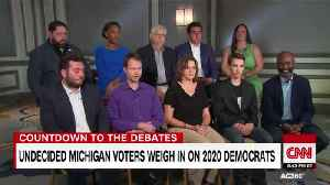 Undecided Michigan voters weigh-in on 2020 Democrats [Video]